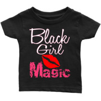 Black girl Magic African American melanin shirt for infant t-shirts