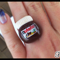 Nutella Inspired Ring  Chocolate  Kawaii by GabriellesCreations