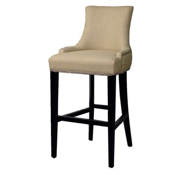 Eckhard Fabric Bar Stool, Linen