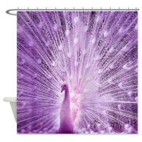 Purple peacock Shower Curtain