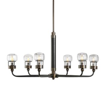 Graham 6 Light Bronze Chandelier