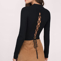 Look Back Lace Up Sweater