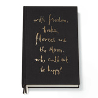 """Who Could Not Be Happy?"" Journal in Black by Kate Spade New York - FINAL SALE"