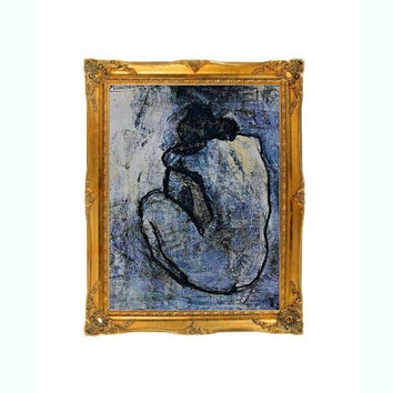Blue Nude Picasso Cross Stitch Pattern