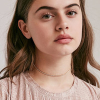 Cami Delicate Rhinestone Choker Necklace   Urban Outfitters