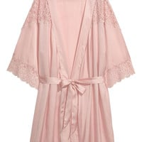 Satin kimono - Light pink - Ladies | H&M GB