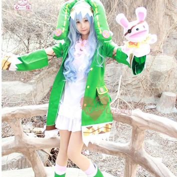 Cool Free postage Hot Anime DATE A LIVE cos cartoon cute female Hermit Yoshino cosplay Halloween Elf clothing costumes setsAT_93_12