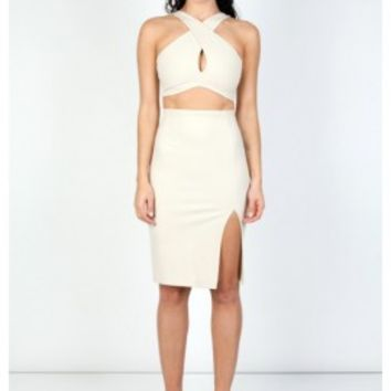 RADIAN SKIRT - CREAM - Zachary The Label