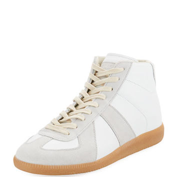 Maison Margiela Replica Mid-Top Leather & Suede Sneaker
