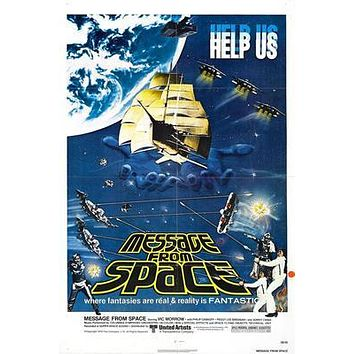 Message From Space Movie poster Metal Sign Wall Art 8in x 12in