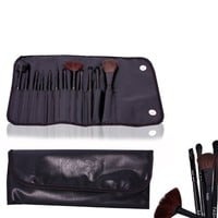 FASH Professional makeup Brush Set with Leather Pouch, 12-Piece, For Eye Shadow, Blush, Eyeliner, eyebrow.....