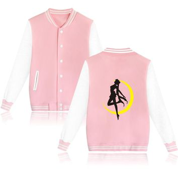 Sailor Moon Cartoon Design Mens Hoodies And Sweatshirts Baseball And Plus Size Sailor Moon Women Sweatshirts Autumn Clothes