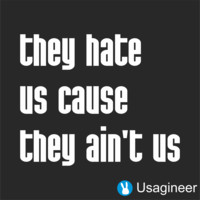 THEY HATE US CAUSE THEY AINT US QUOTE VINYL DECAL STICKER
