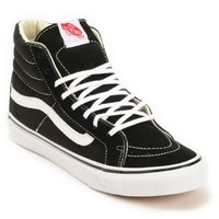 Vans SK8 Hi Slim Black & True White Shoes