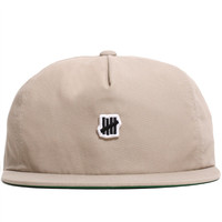 Mini 5 Strike Unstructured Strapback Hat Khaki