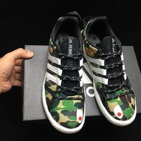 hcxx A304 Adidas Clima Cool Boat Lace Graphic Boost Breathable Running Shoes