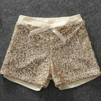 Gold Sequin Shorts, Gold Sparkle Shorts, Baby Girl Shorts, Birthday Outfit, Toddler Shorts, Trendy Girl Clothing Girl Clothes Sizes 2T-6