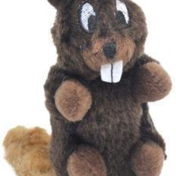 LMFYN5 Knight Pet Runtzees Furry Plush Beaver Small Forrest Dog Toy
