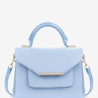 Patent crosshatch lady bag - Powder Blue | Bags | Ted Baker UK