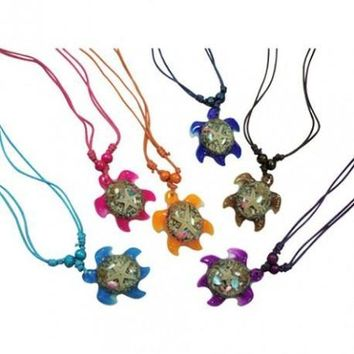Glass Turtle Necklace