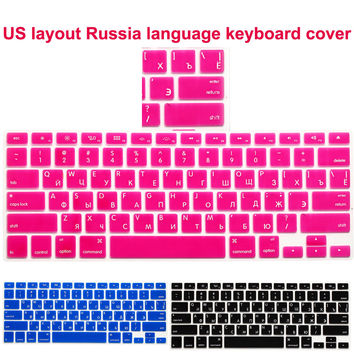 RUSSIAN Silicone Soft Keyboard Cover Skin sticker protective for apple MacBook Pro air retina 13 15 17 US layout