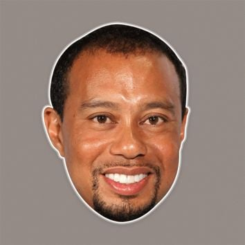 Cool Tiger Woods Mask - Perfect for Halloween, Costume Party Mask, Masquerades, Parties, Festivals, Concerts - Jumbo Size Waterproof Laminated Mask
