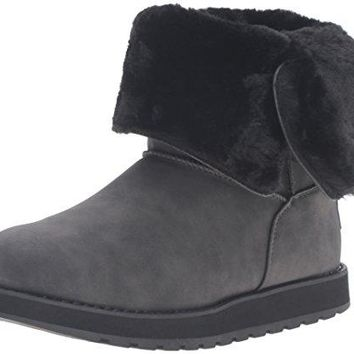 Skechers Women's Keepsakes Leatherette Mid Button Winter Boot