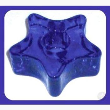 Blue Star Chime Candle Holder