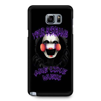 Five Nights At Freddy S The Marionette Samsung Galaxy Note 5 Case
