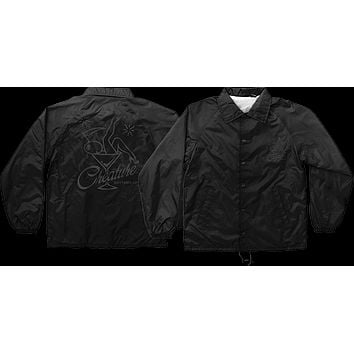Creature Bottoms Up Coach Windbreaker XL Black