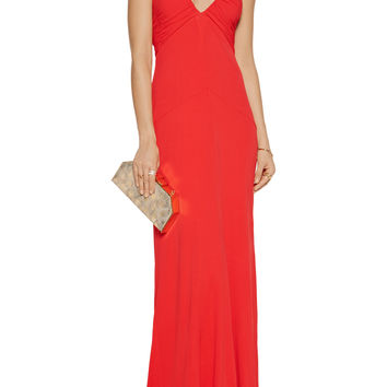 Mamie ruched jersey halterneck gown | Rachel Zoe | US | THE OUTNET