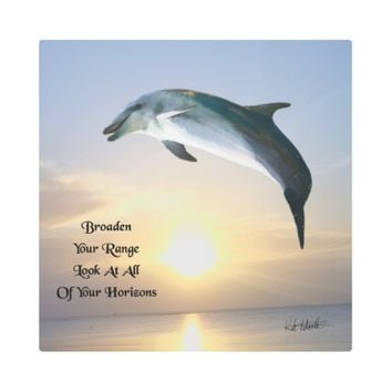 Horizons Quote by Kat Worth Metal Print