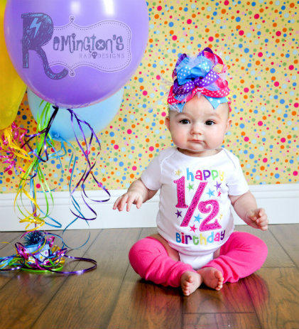 1 2 Birthday Embroidered Shirt Or Onesuit From RemingtonsRadDesig