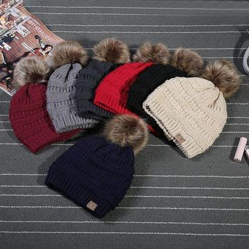 PEAPGE2 Beauty Ticks 2017 Rushed Special Solid Stretch Cable Knit Slouch Cc Beanie Skully Warm Ski Hat