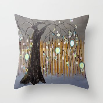 :: Willow Sunset ::  by Gale Storm Throw Pillow by :: GaleStorm Artworks ::
