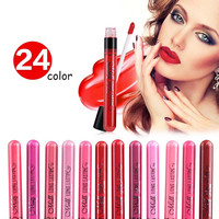 MENOW 24 Makeup Baton Mate Nude Matte Lipstick Pencil Waterproof Rouge a Levre Velvet Dark Red Long Lasting Lipsticks Lip Stick