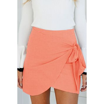 Straps High Waist Bodycon Irregular Short Skirt