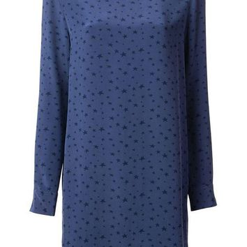 ICIKIN3 Equipment star print shift dress