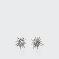 Spur Stud Earrings - silver