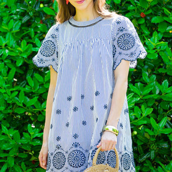 Blair Embroidered Dress :: NEW ARRIVALS :: The Blue Door Boutique