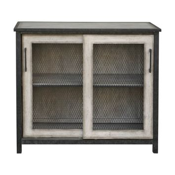 Dylan Wire-Mesh Accent Cabinet