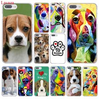 Lavaza I love my Beagle Dogs Hard Coque Shell Phone Case for Apple iPhone 8 7 6 6S Plus X 10 5 5S SE 5C 4 4S Cover