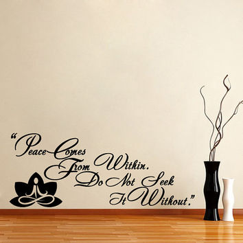Housewares Buddha Quote Wall Vinyl Decal Sticker Art Interior Home Decor Room Mural V238