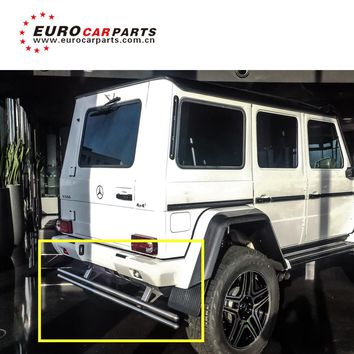 Rear Guard Chrome Package 4*4 W463 fit for g500 g650 g550 rear bumper guard for G class w463 auto parts stainless steel