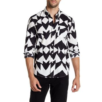 SATURDAYS NYC Men's Long Sleeve Crosby Mirror Shirt