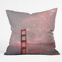 Bianca Green Stardust Covering San Francisco Throw Pillow