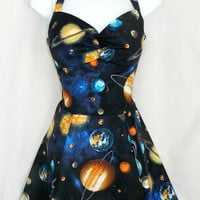 Outer space planet dress. Custom fit