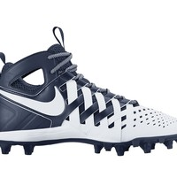 Nike Huarache 5 Lacrosse Cleats - White/Navy | Lacrosse Unlimited