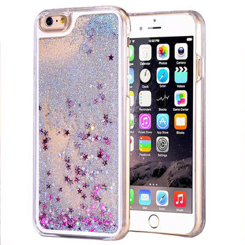 Fashion Fun Dynamic Liquid Glitter Star Quicksand Phone Cases for iPhone Devices