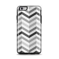 The Grayscale Gradient Chevron Zigzag Pattern Apple iPhone 6 Plus Otterbox Symmetry Case Skin Set